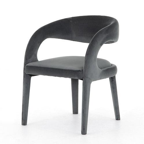 Hawkins Dining Chair, Charcoal Velvet