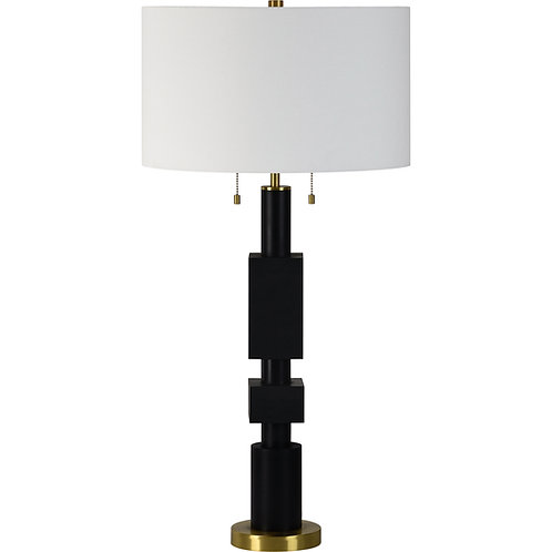 Black Stacked Table Lamp
