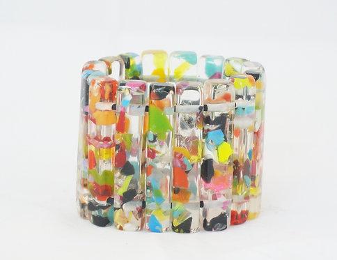 Long Bar Confetti Bracelet