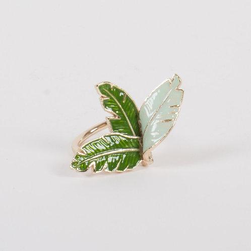 Botanical Leaf Napkin Ring