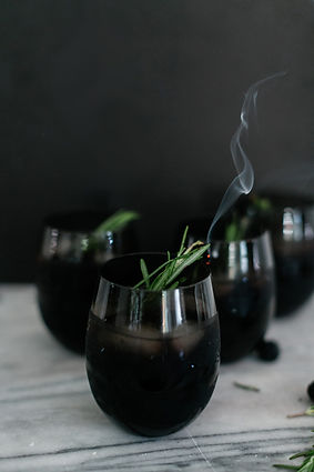 SMOKEY BLACKBERRY BOURBON PUNCH