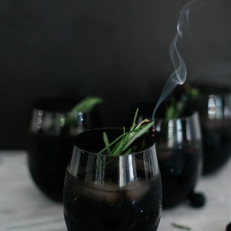 SMOKEY BLACKBERRY BOURBON PUNCH