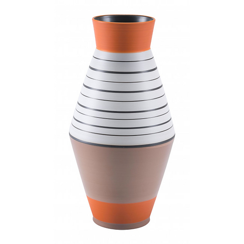Orange Stripe Vase Medium