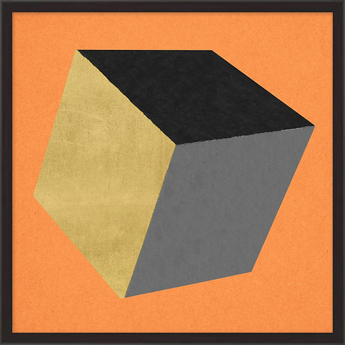 Cube with Gold 2