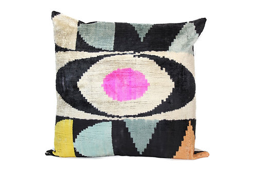 Colorful Eye Black + Pink Pillow