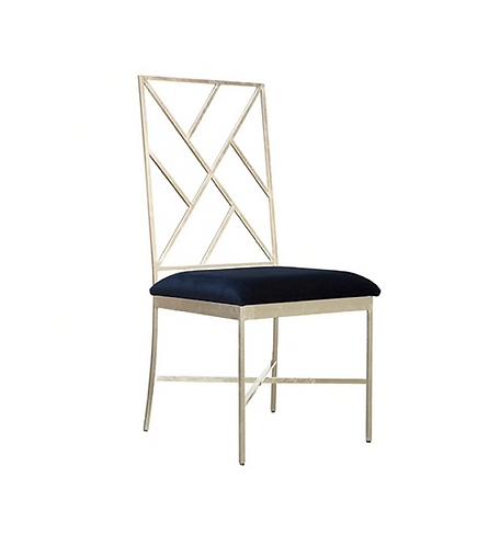 Hailey Side Chair, Silver