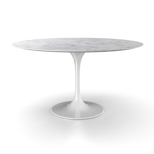 """Marble Tulip Dining Table, 63"""""""