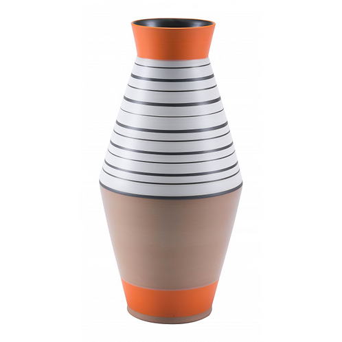 Orange Stripe Vase Large