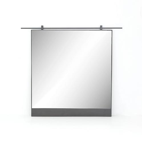 Antiqued Iron Mirror