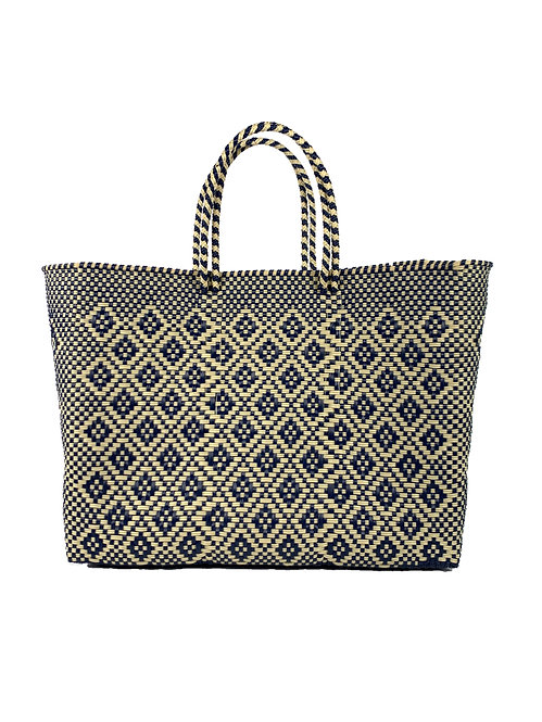 Navy + Cream Poolside Tote, Large