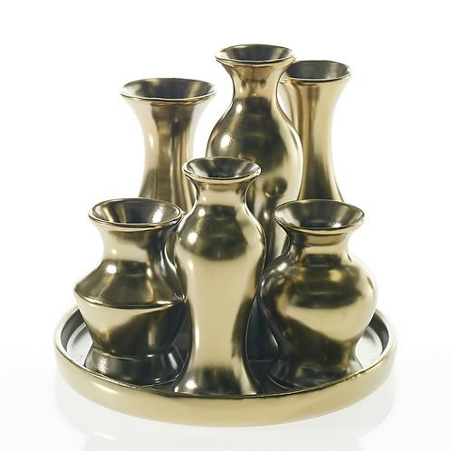 Chic Vase Gold Round