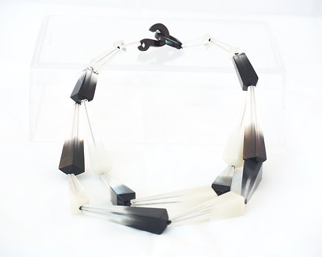 Black + White Two-Tier Necklace