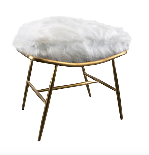 Beauvoir Faux Fur Foot Stool