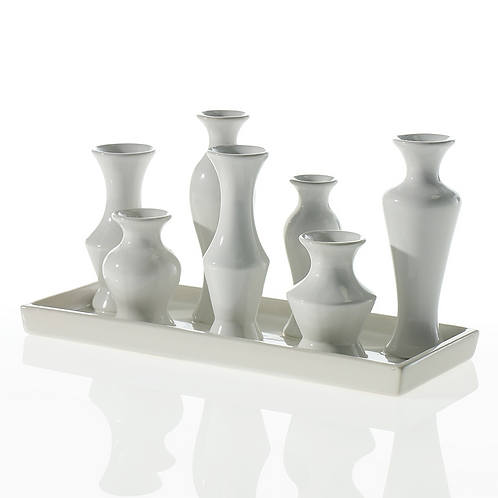 Chic Vase White Oblong