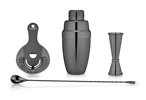 Gunmetal Mixologist Barware Set