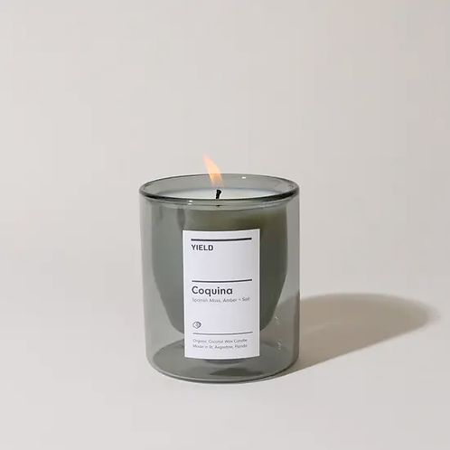 Double Walled Candle, Coquina