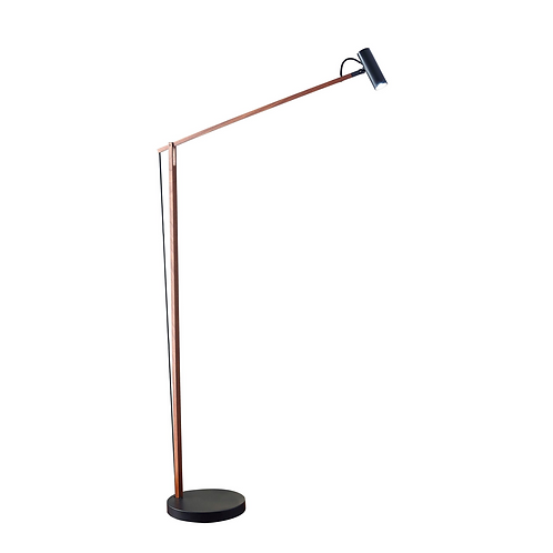 Crane Walnut Floor Lamp