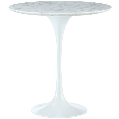 Marble Tulip Side Table, 20""