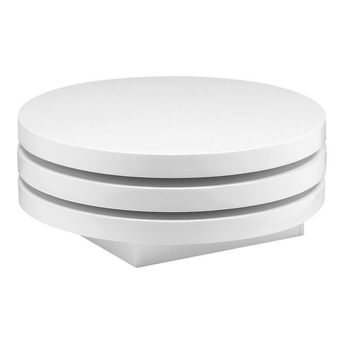 White Lacquer Stacked Coffee Table