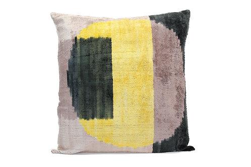 Citrus Moon Yellow + Black Pillow