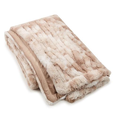 Cream Sculpted Throw Blanket