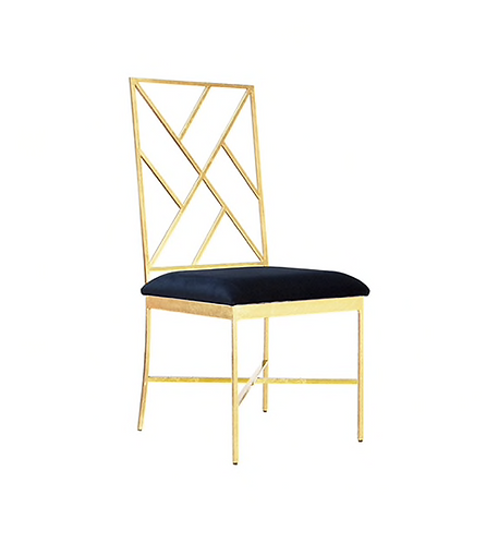 Hailey Side Chair, Gold