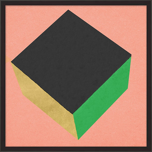 Cube with Gold 4