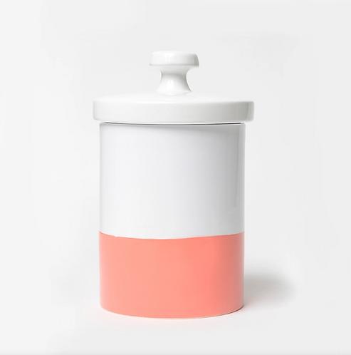 Dipper Ceramic Treat Jar, Coral