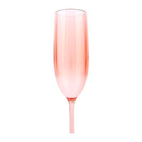 Powder Pink Poolside Champagne Flutes, Set of 2