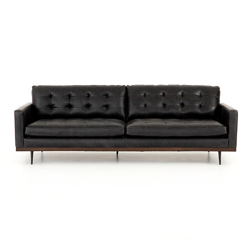 Wilson Sofa, Black Leather