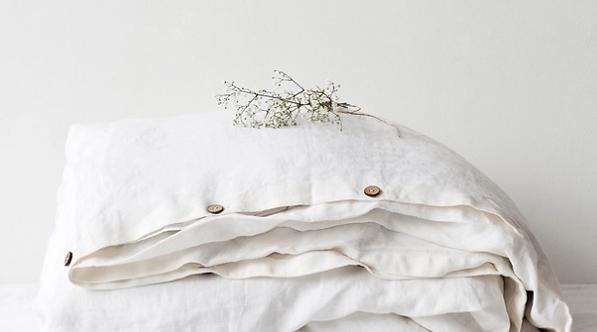 White Linen Duvet Cover
