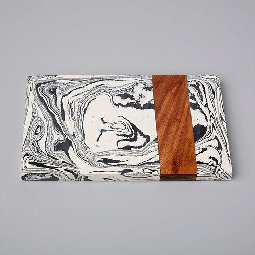 Zebra Marble + Wood Board