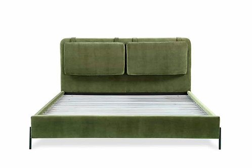 BOBBY BERK Kirkeby Upholstered Bed, Moss Green