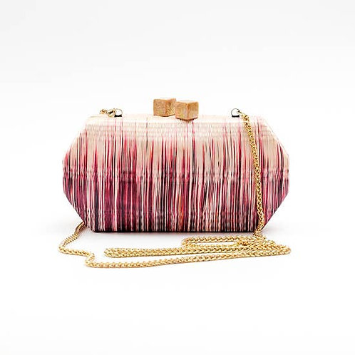 Wine Ombre Palm Clutch