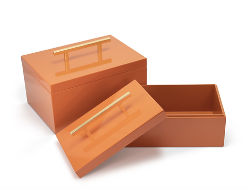 Serena Boxes, Orange [Set of 2]