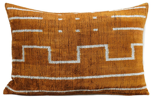 Rust Mud Cloth Lumbar