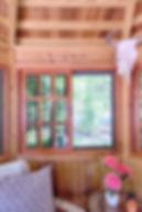 interior cedar tea house