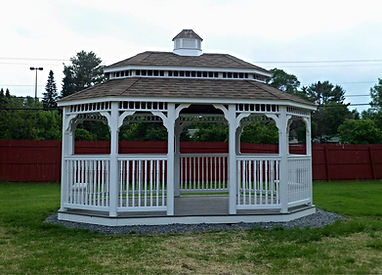 Oval vinyl clad gazebo pagoda roof