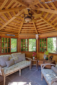 interior stained tea house