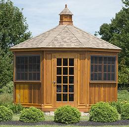 cedar stained tea house