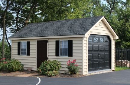 single car Garden style garage