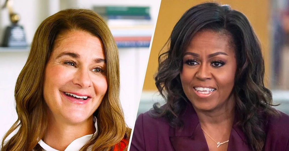 philanthropist Melinda Gates partnered with former First Lady of the United States, Michelle Obama, in an effort to protect girls' health, safety and access to education.