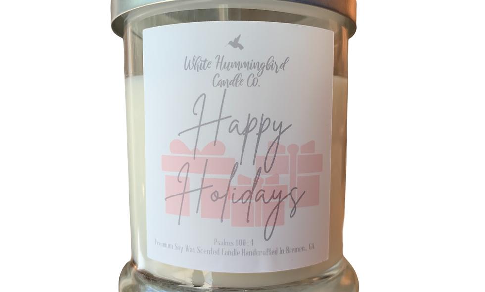 Happy Holidays 10 oz 2 Wick Jar