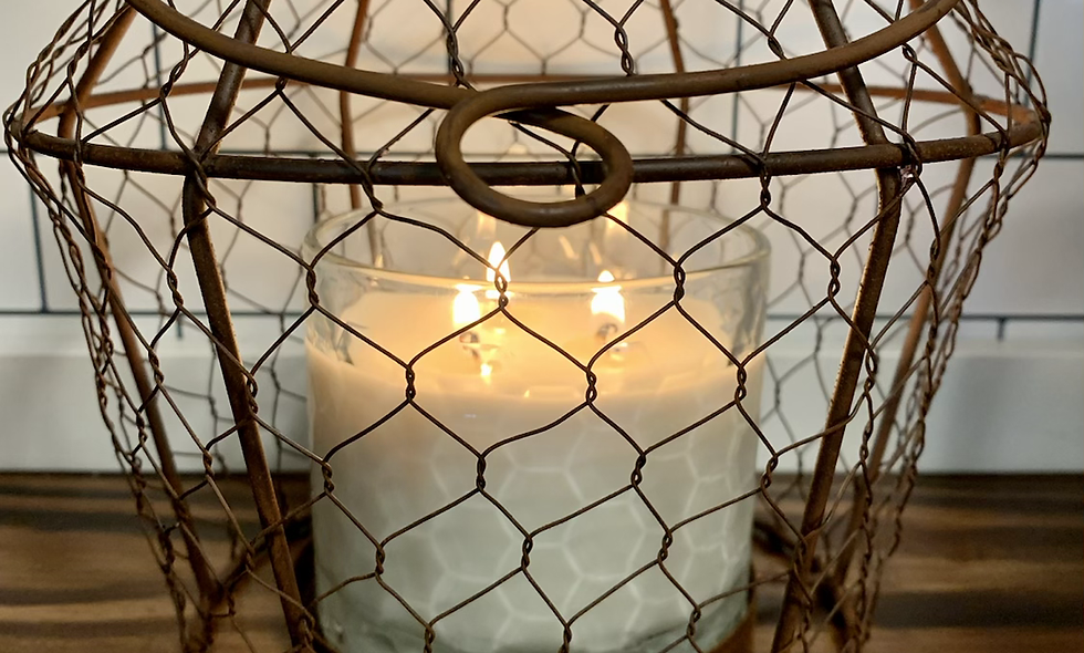 Chicken Wire Candle Holder & Candle