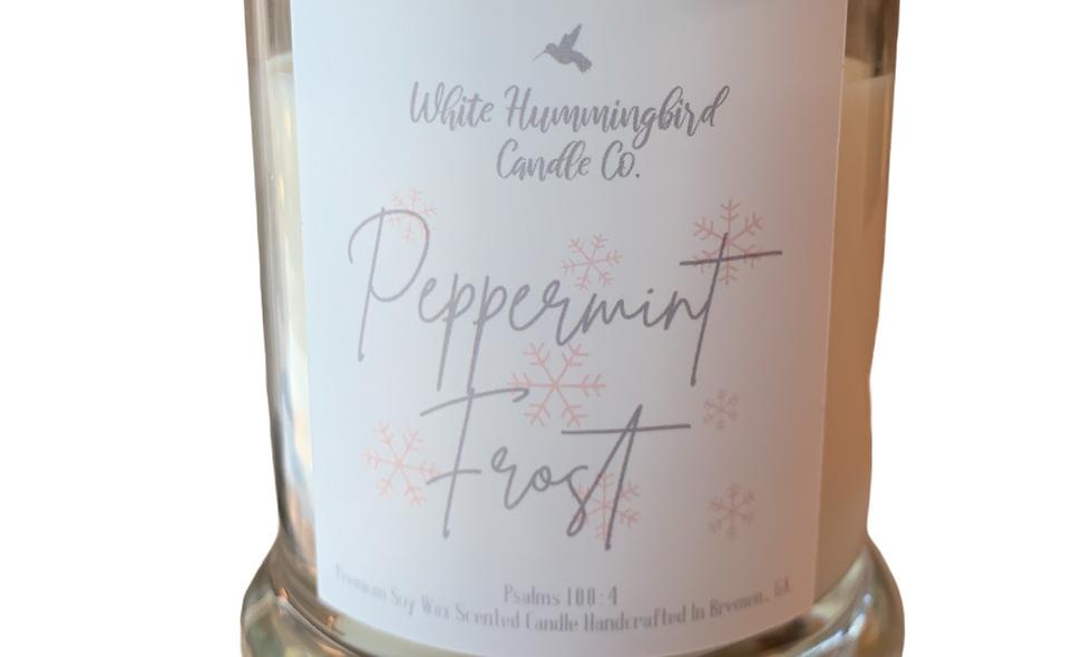 Peppermint Frost 10 oz 2 Wick Jar