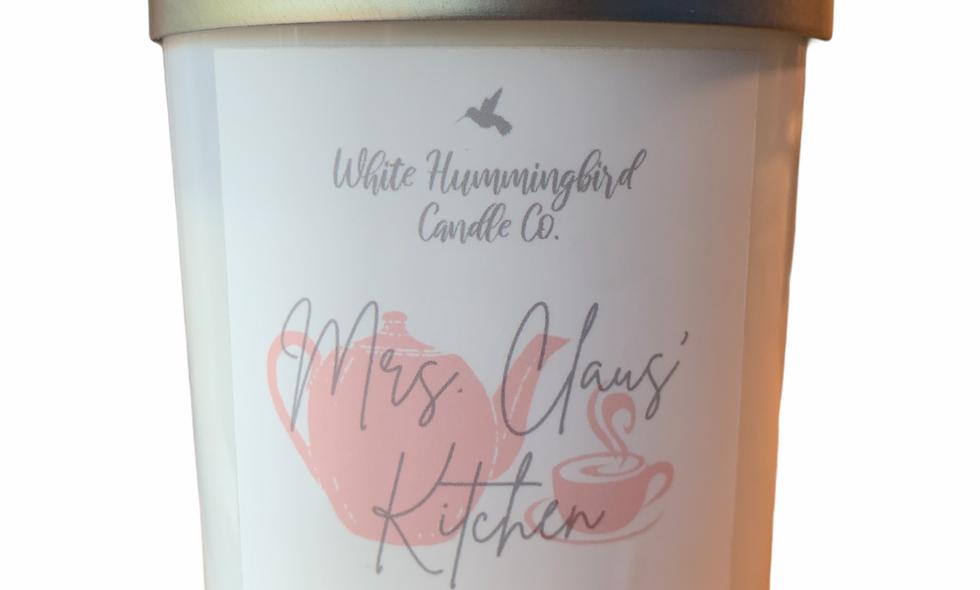 Mrs. Claus' Kitchen 10 oz Matte White Jar