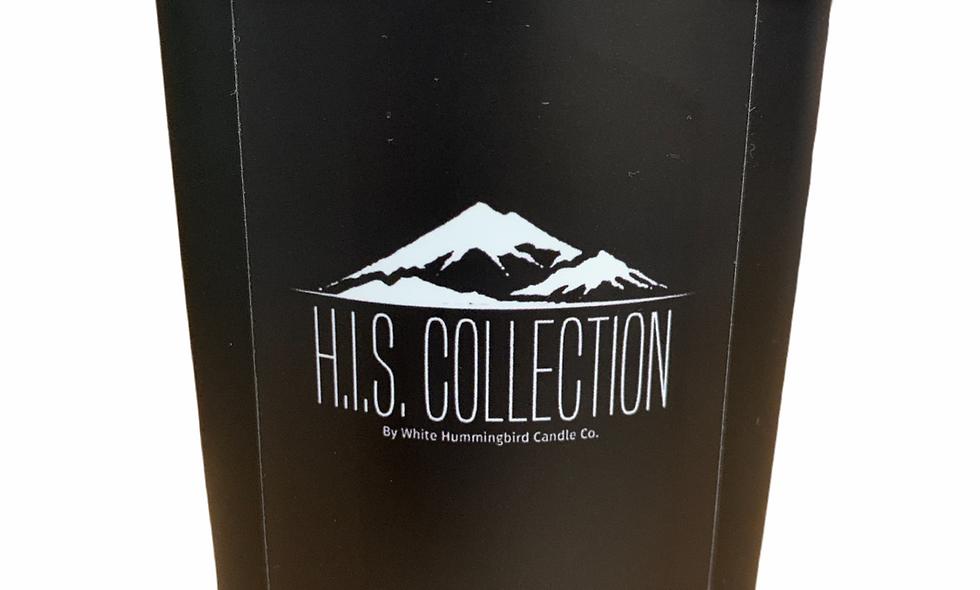 H.I.S. Collection 10 oz Black Matte Jar