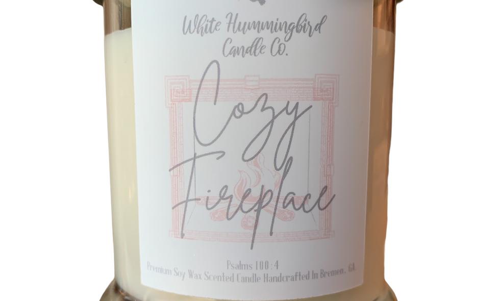 Cozy Fireplace 10 oz 2 Wick Jar