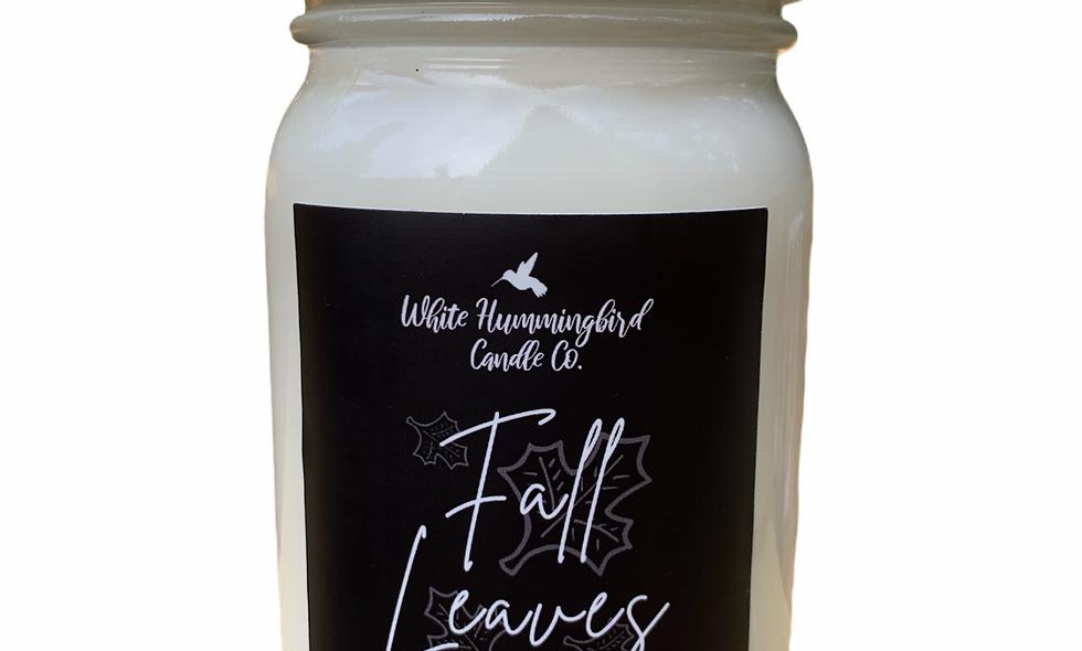 Fall Leaves 16 oz. Farmhouse Jar