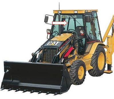 Стекло для экскаваторов-погрузчиков CATERPILLAR 428D | Стекло для экскаваторов-погрузчиков CATERPILLAR 432D | Стекло лобовое верхнее | Стекло лобовое | CATERPILLAR | CAT | Катерпиллер